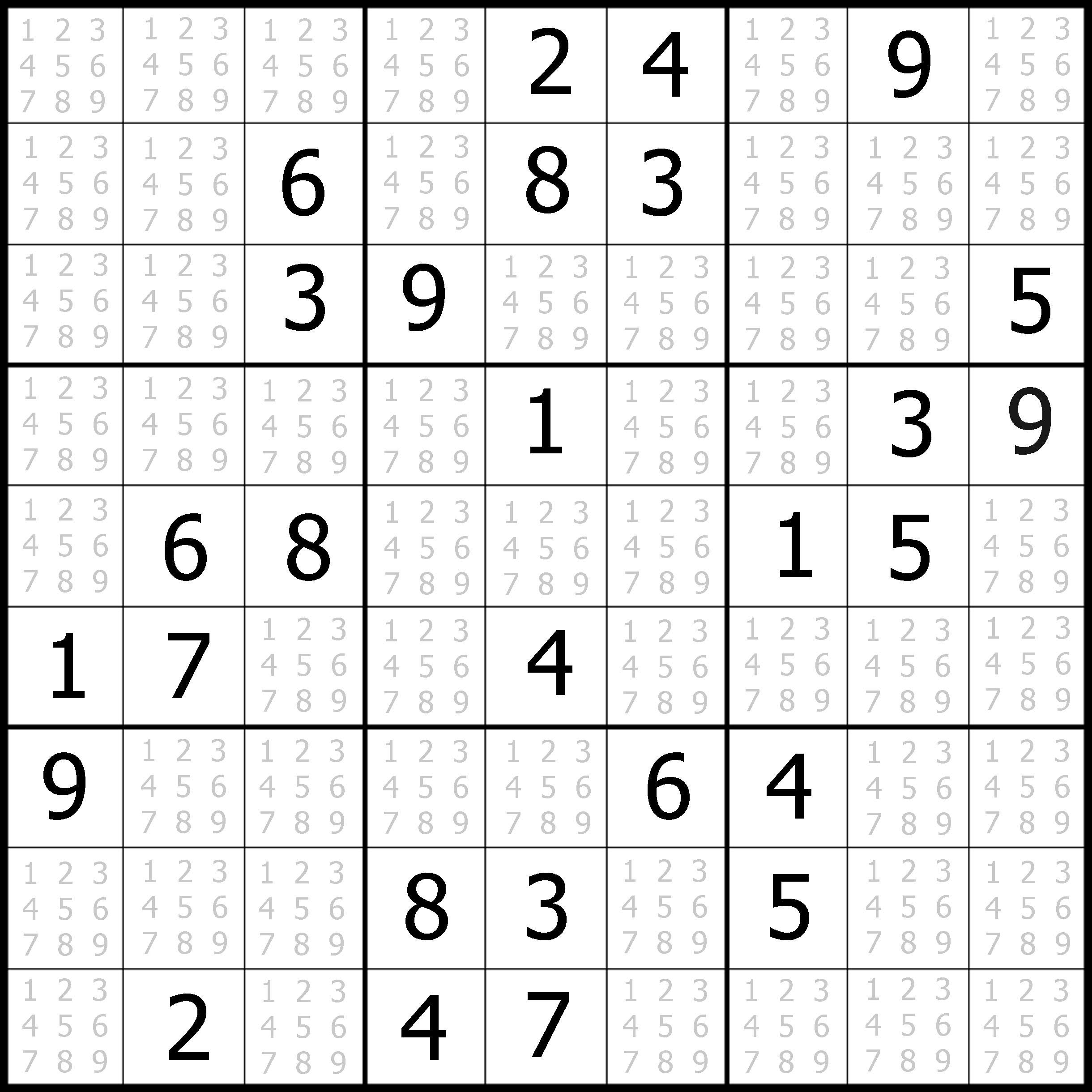 Free Medium Sudoku Puzzle 03