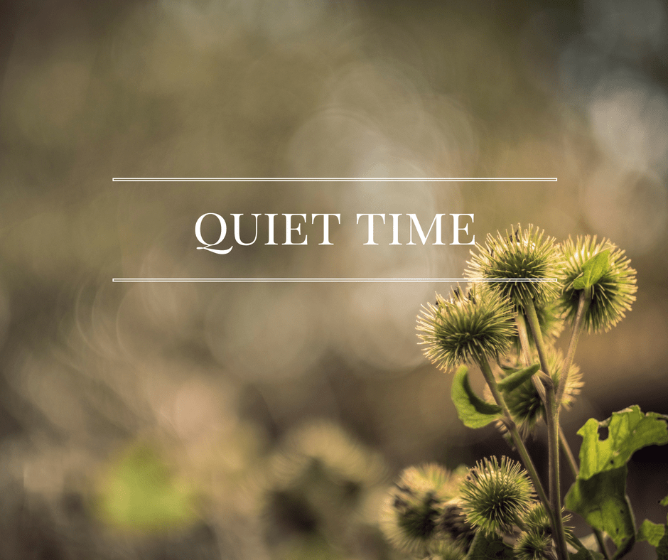 Who Says Quiet Time Has To Be Quiet