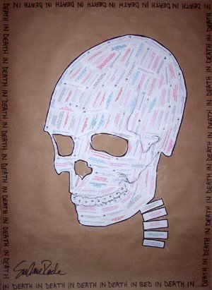 art, fortune cookie, drawing, skull