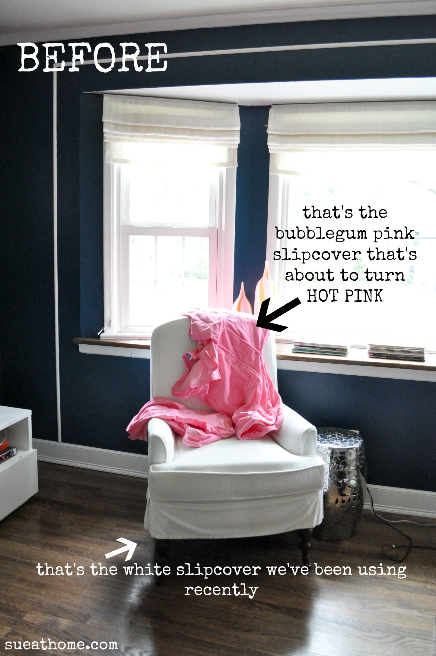 pink slipcover chair sleeper beds dying sue at home i