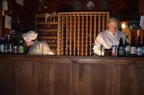 The bar at Hawk's Head