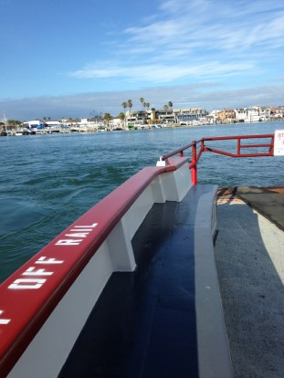Riding the ferry from where I'd parked on Balboa