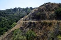Walking cliff side