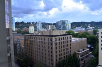 View from 6th floor of the downtown Hilton