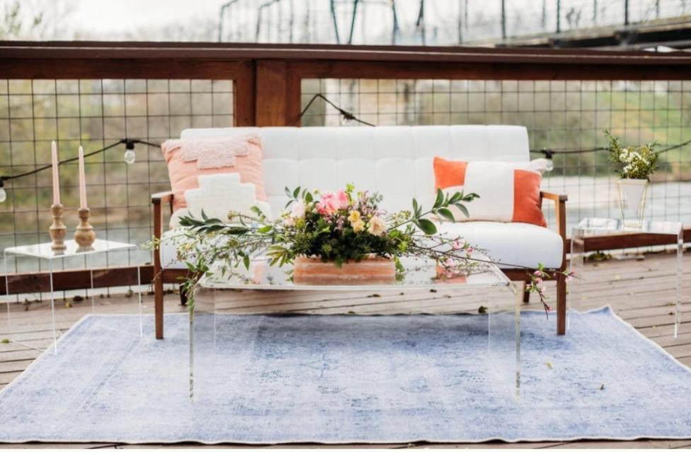 White Sofa Modern styled shoot