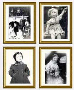 old photos framed