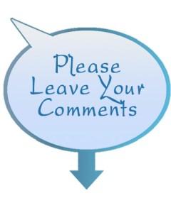 Speech Bubble Please Leave Your Comment