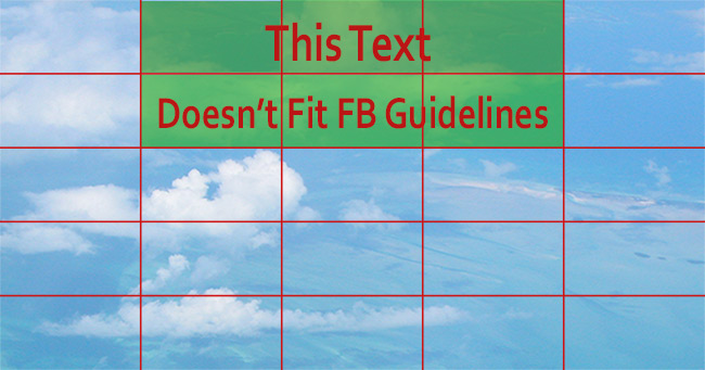 Facebook Grid over 20% text