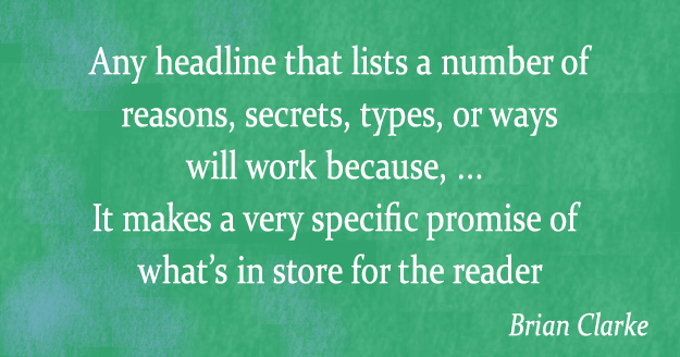 Brian Clarke Quote - secrets and lists