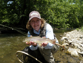 Sue Bookhout fly fishing