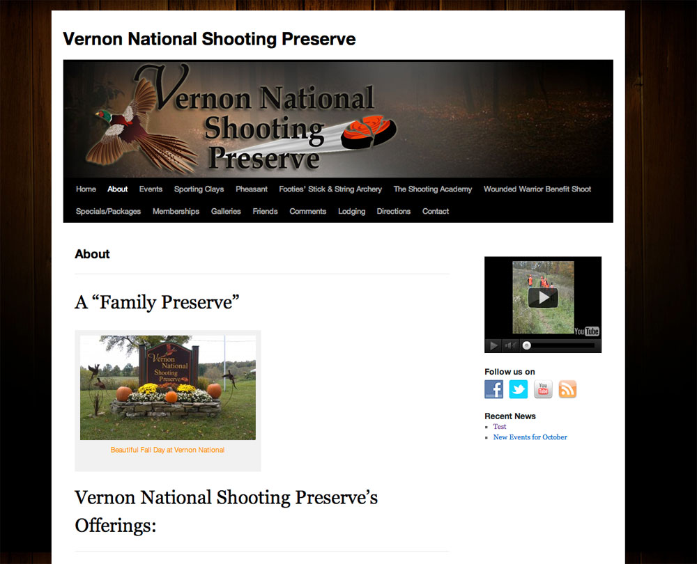 Website Redesign for Shooting and Hunting Preserve - Sue