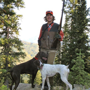 Sue Bookhout hunting with her dogs