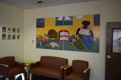 Going Places, Getting There (two panels of a diptych together in the lobby of the Curtis Children's Justice Center in Vancouver WA)