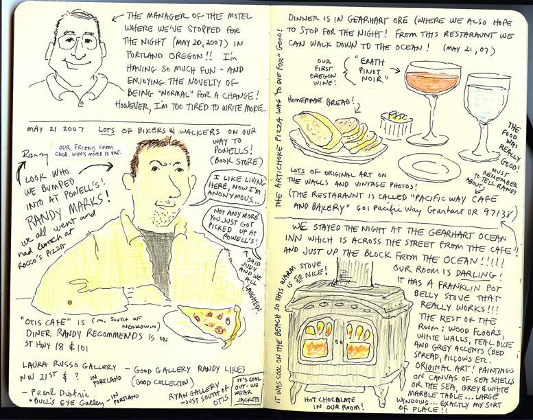 Oregon coast sketchbook pg 1