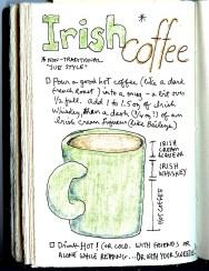 recipe for Irish Coffee made as Sue Clancy likes it