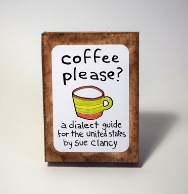 """handmade box front cover for """"Coffee Please?"""" by Sue Clancy"""
