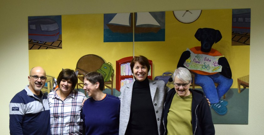 The crew who installed Sue Clancy's artwork in the Curtis Children's Justice Center - we had just finished installation
