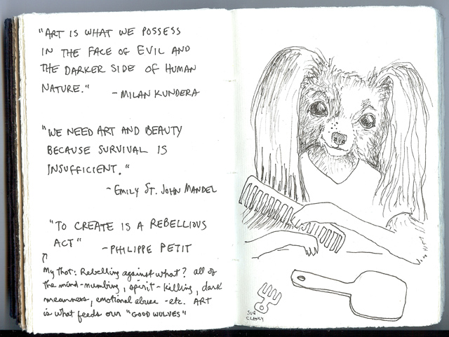 Sue Clancy's sketchbook pages