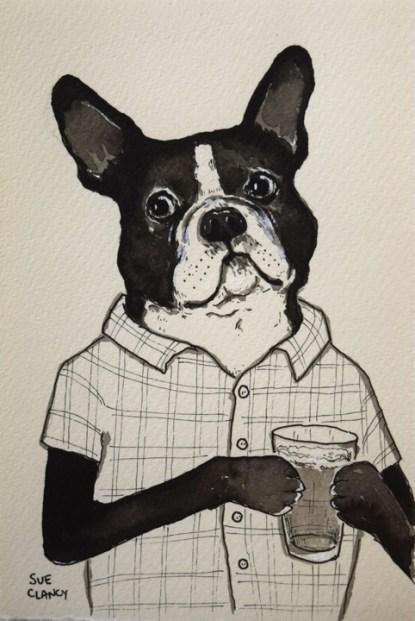 Adams by Sue Clancy (ink on handmade paper)