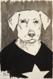 Tex by Sue Clancy (ink on handmade paper)