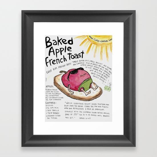 """""""Baked Apple French Toast"""" https://society6.com/product/baked-apple-french-toast_framed-print#s6-7483844p21a12v52a13v54"""