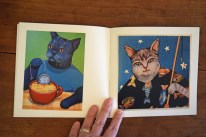 "Page spread from ""Cats by Sue Clancy"""
