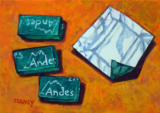 """Into The Andes"" by Clancy - 5 x 7 inches - acrylic and gouache on board"