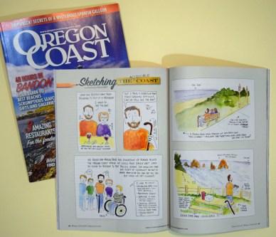 """Sketching the Coast"" by Clancy - https://oregoncoastmagazine.com/"