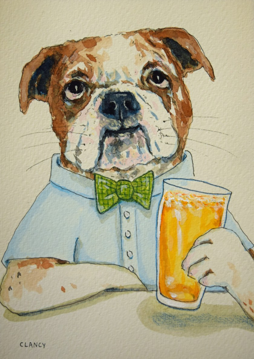 BulldogWithBeer