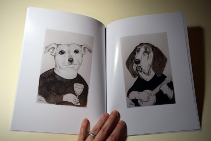 """Page spread from """"Dogs by Sue Clancy"""" https://store.bookbaby.com/book/Dogs-By-Sue-Clancy"""