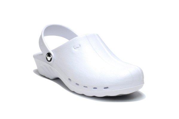 Oden Klompe bele papuce -BELE Suecos klompe (2)