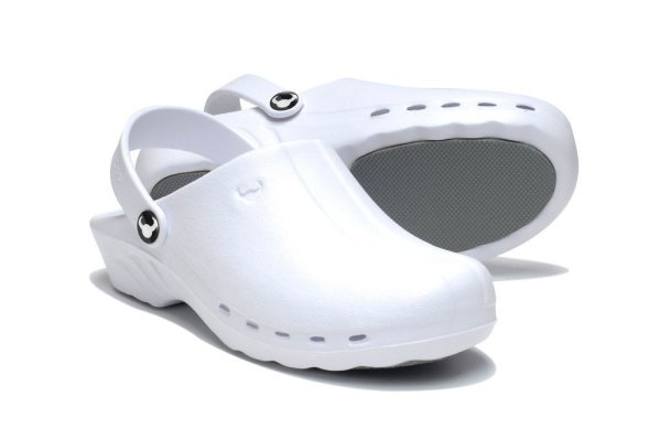 Oden Klompe bele papuce -BELE Suecos klompe