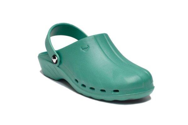 Oden Klompe zelene papuce zelene Suecos klompe (2)