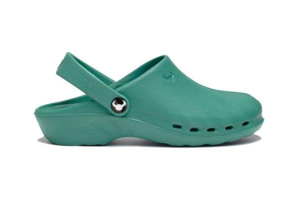 Oden Klompe zelene papuce zelene Suecos klompe (3)