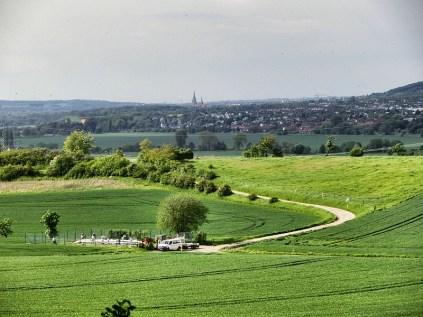 Blick nach Hildesheim