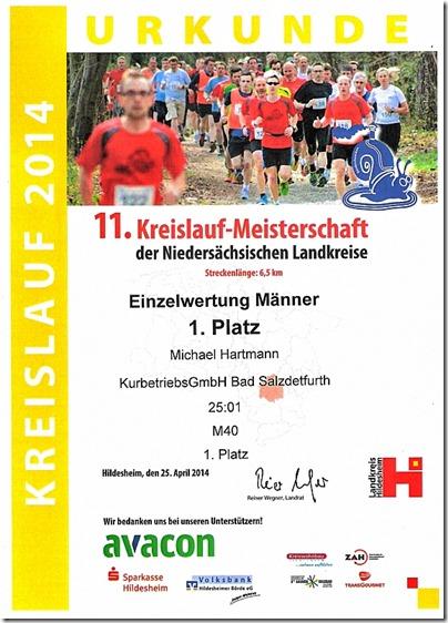Kreislauf 2014 - Urkunde