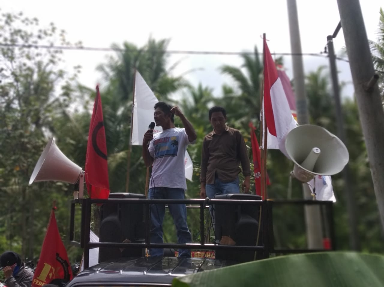Indonesien: Protest gegen union busting, 2019 © FSBKU