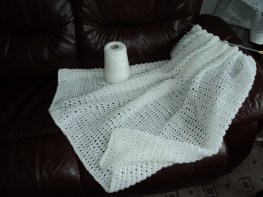 A shawl I am knitting.
