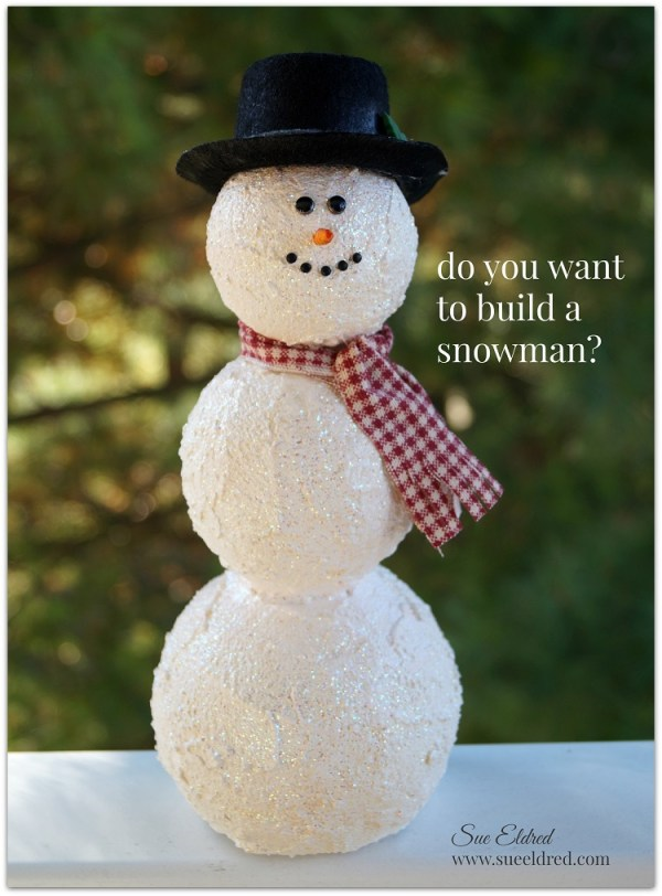 How to build a Snowman with Smoothfoam Sue39s Creative