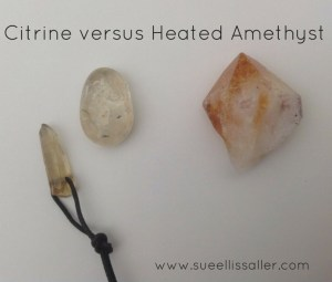 Left is Citrine, right is Heated Amethyst