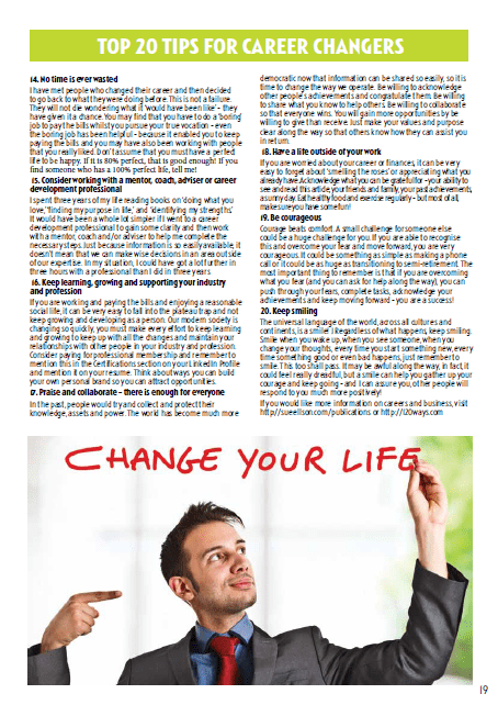 Top 20 Tips For Career Changers - 19