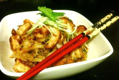 Shrimp and garlic noodles