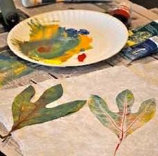 Sassafras leaf print in process