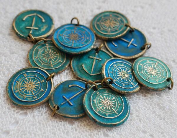 Compass Necklace Suegray Seaglass