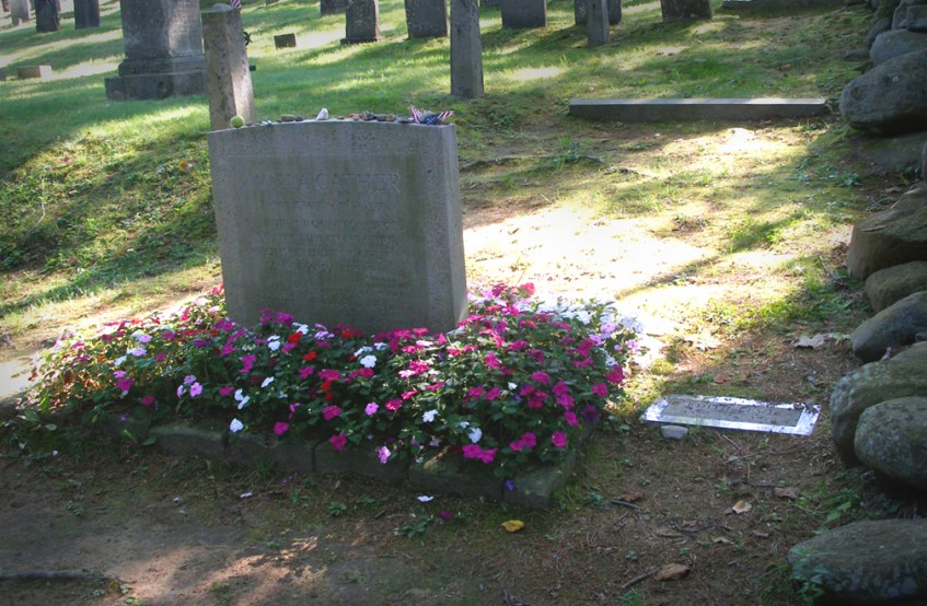 The Grave site of Willa Cather and Edith Lewis