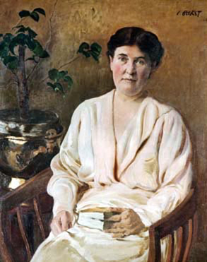 Portrait of Willa Cather by Lèon Bakst (1866-1924)