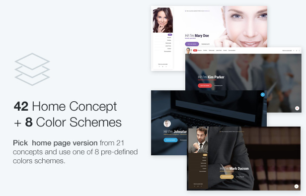 Mi  – Ultimate Personal Resume vCard Template free download nulled