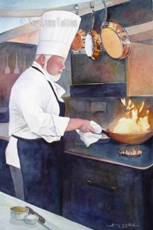 A Chef at Work $150