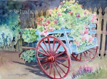 Little Wagon of Flowers $99