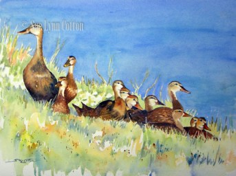 Mottled Ducks by the Pond $99